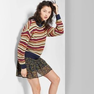 Wild Fable striped crew neck knit sweater SMALL